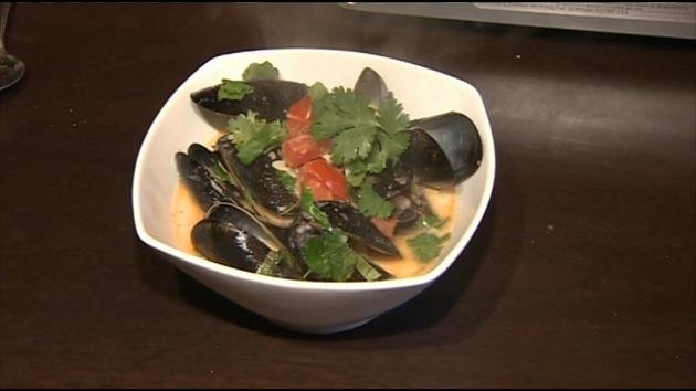 Thai Steamed Mussels at The River Seafood & Oyster Bar