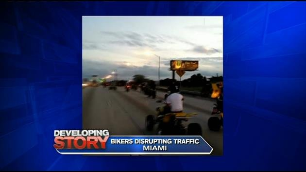 Bikes Up Guns Down Miami MIAMI WSVN For hours on