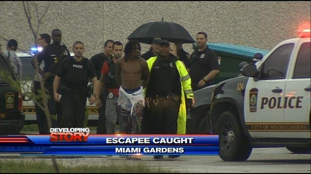 Police capture prisoner who escaped miami gardens police custody hialeah news newslocker for Miami gardens police department